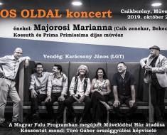 Napos Oldal koncert 2019. október 22. 18.00.